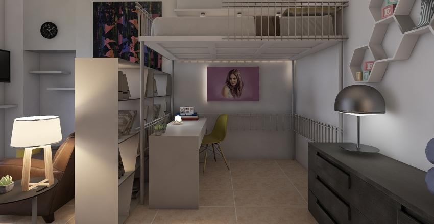 Monolocale Milano - studentessa Interior Design Render
