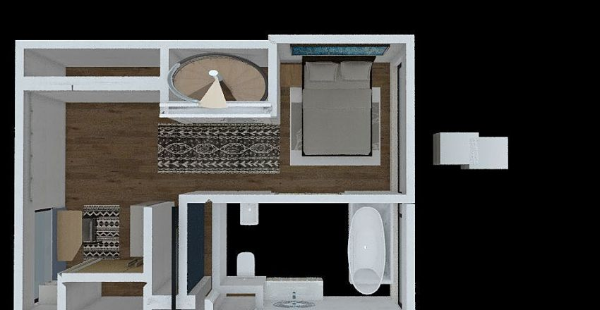 dormitorio Interior Design Render