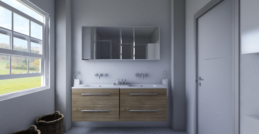 HYelp with bathroom layout Interior Design Render