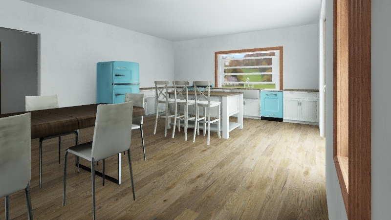 Small house with future extension Interior Design Render