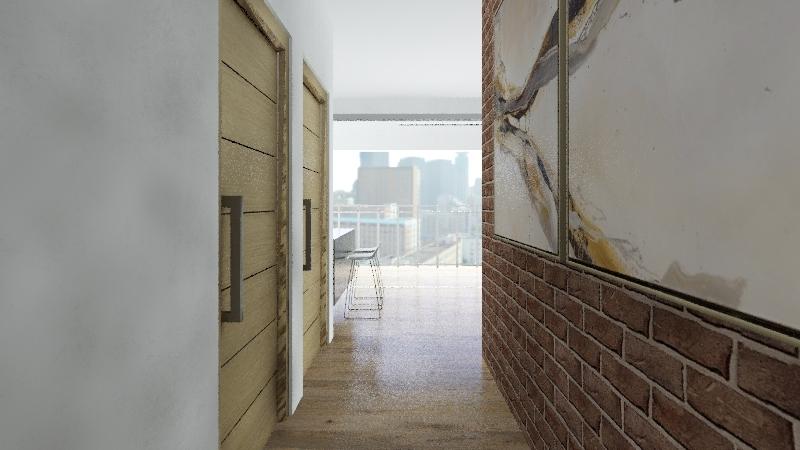 UNIT 1 SINGLE ROOM Interior Design Render