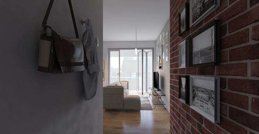 UNIT 2  DOUBLE ROOM Interior Design Render