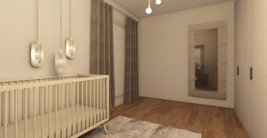 Calm and Neautral Nursery Interior Design Render