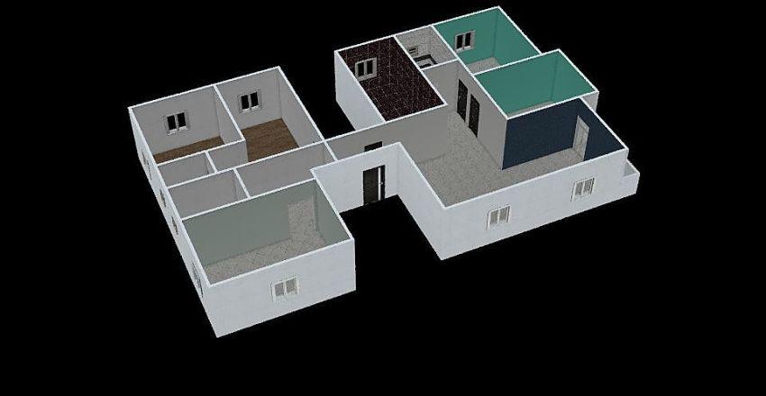 repeated flat Interior Design Render