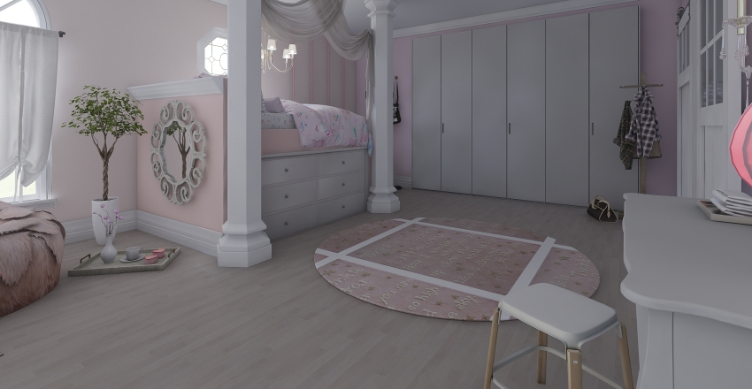 Princess Olivia's Room Interior Design Render