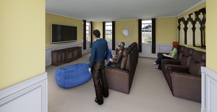 Bonus Room table Interior Design Render