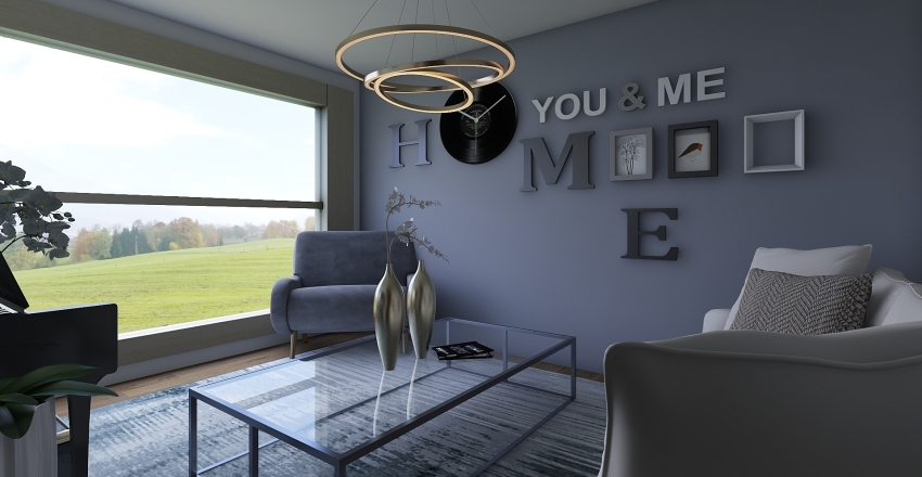 Modern Country Home Interior Design Render