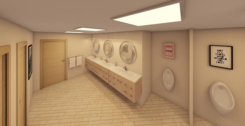 Cathite House - Toilet Interior Design Render