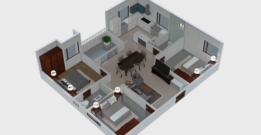 3bhk east Interior Design Render