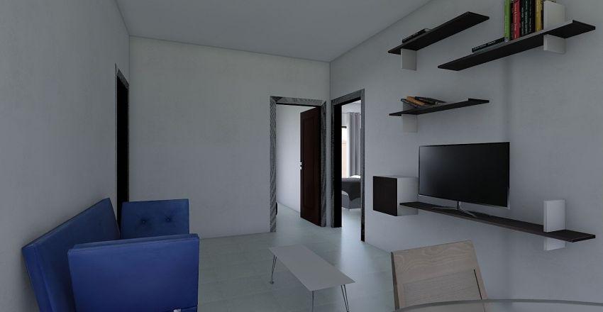 100 m2 La Viga Interior Design Render
