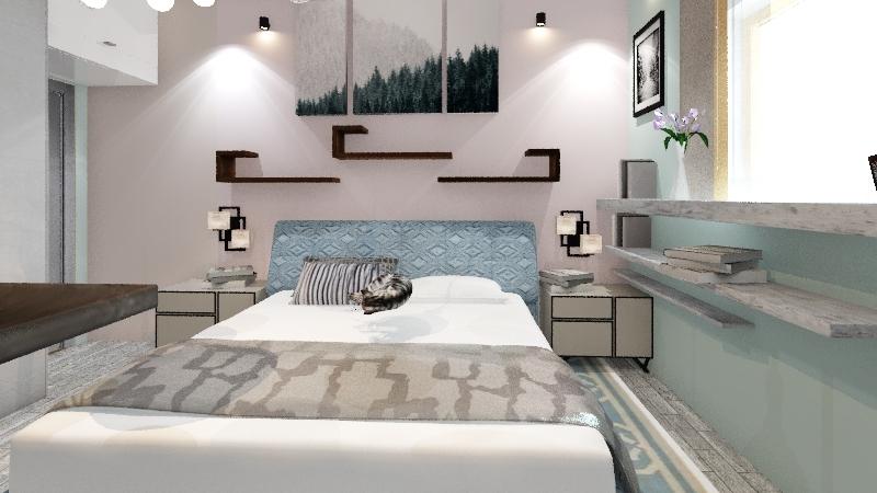 квартира оксаны 1 план исправлен вариант спальни Interior Design Render