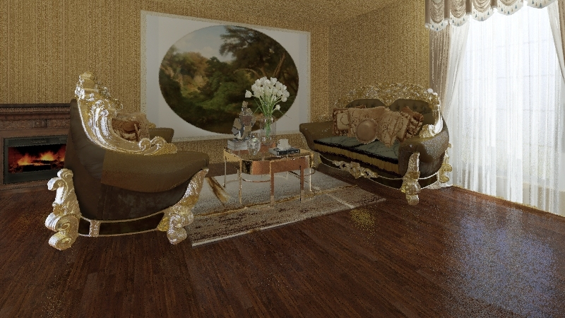 GOLD-GREEN Interior Design Render