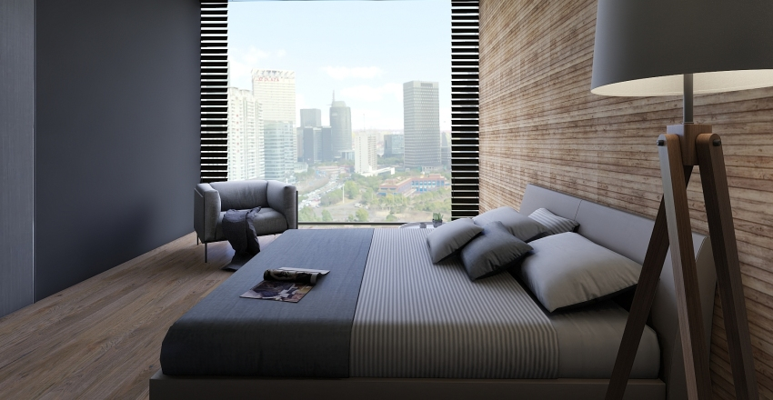 Minimalistic Bedroom Interior Design Render