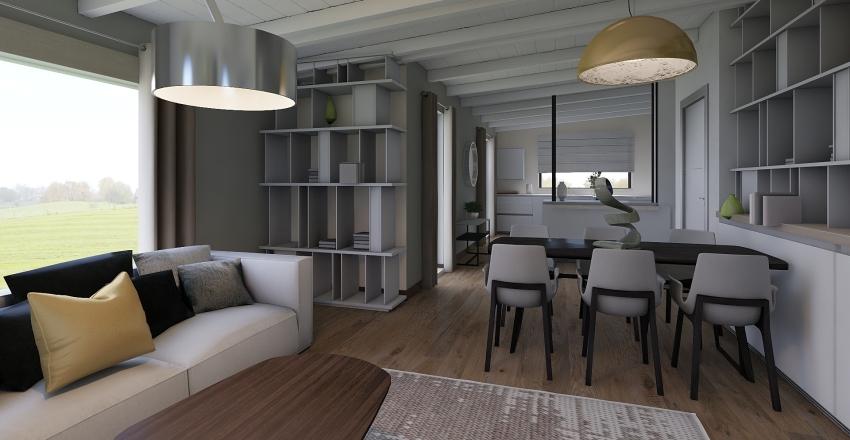 Villa in campagna Interior Design Render