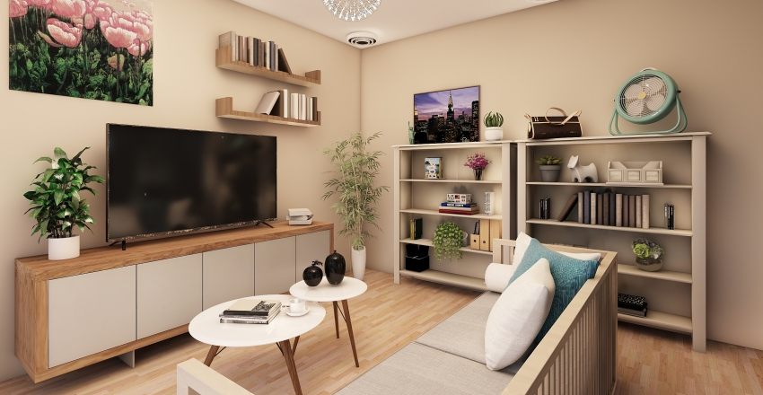 Twin besties bedroom Interior Design Render