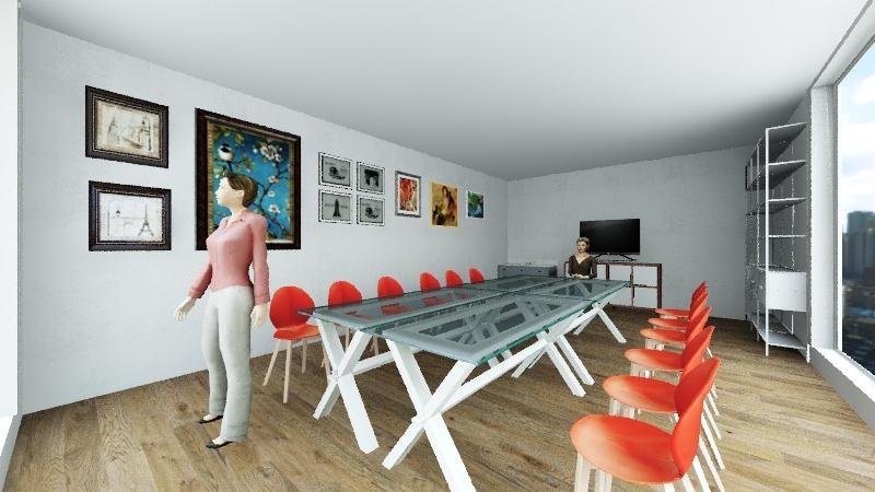 Art class Interior Design Render