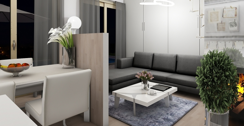 house made for small family Interior Design Render