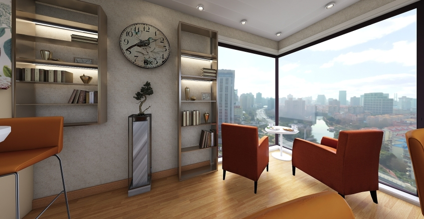 PAN & CAFE Interior Design Render