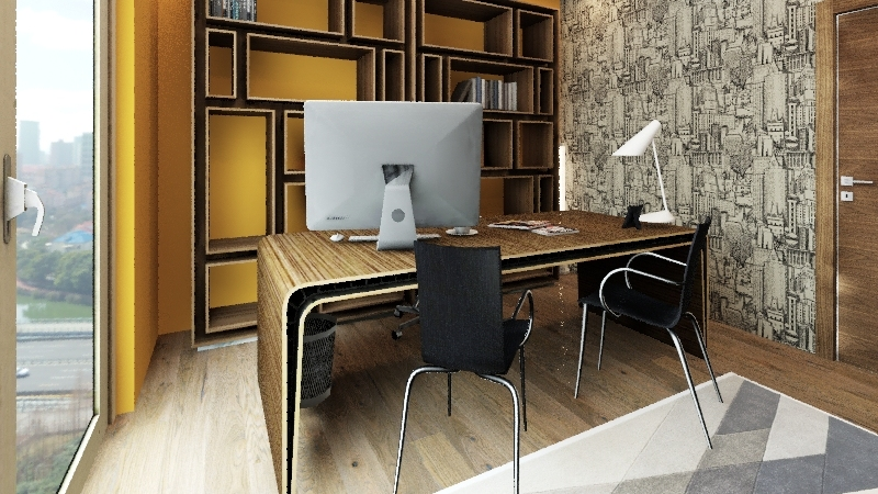 home office(pj1) Interior Design Render