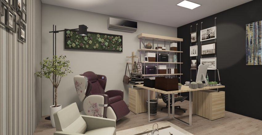 ANG QI RADIO STUDIO Interior Design Render