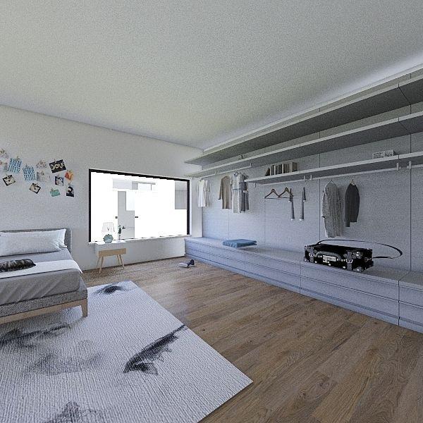 Loft Mansarda Interior Design Render