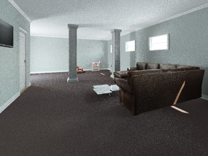 Cedarberry Basement Interior Design Render