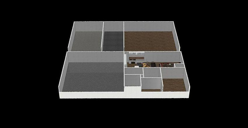 40X40 2 levels with shop 40X40 Interior Design Render