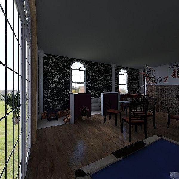 cafe 7 Interior Design Render