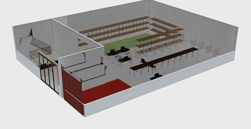 KNO Warehouse Interior Design Render