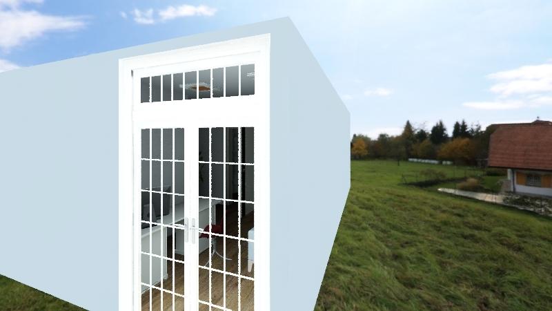 Salão iã Interior Design Render