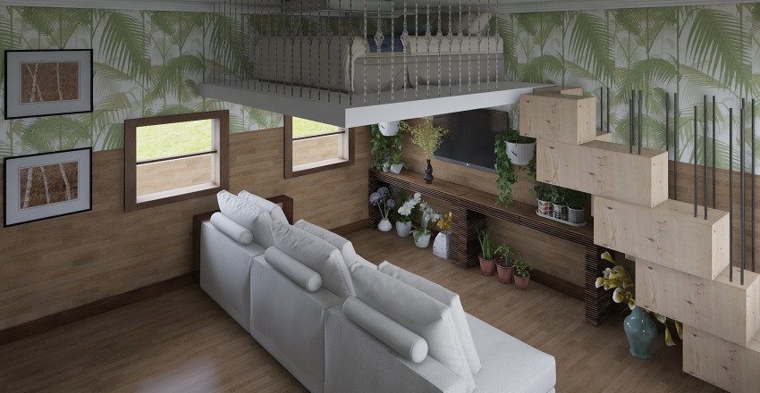 Vintage studio Interior Design Render