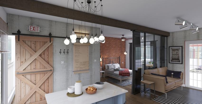 Small Studio II Interior Design Render