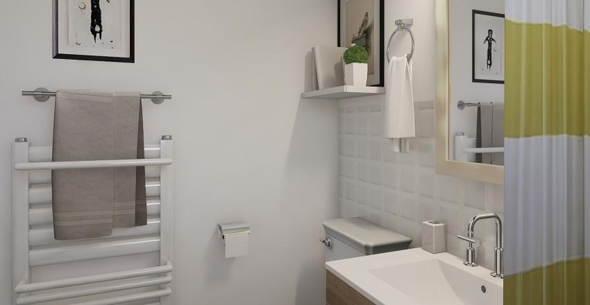 Modern Gray Wash Apartment. Interior Design Render