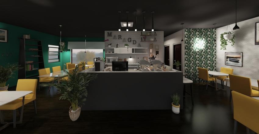 MARAGDA CAFE Interior Design Render