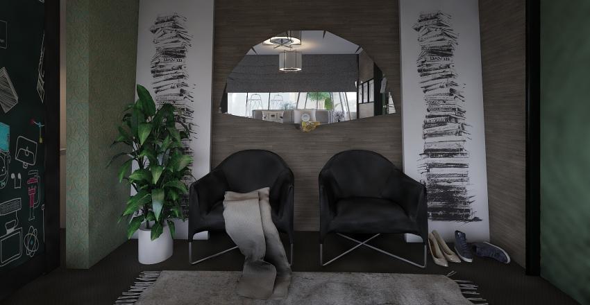 Flowers-House Interior Design Render