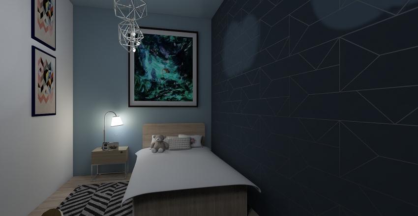 Il recupero di una casa colonica Interior Design Render