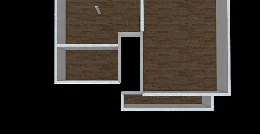 New Main floor bed ad bath area with extension Interior Design Render