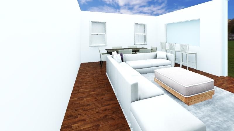 Living house Interior Design Render