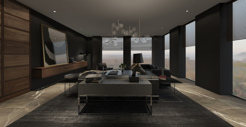 Bryant Condo New York A1 Interior Design Render