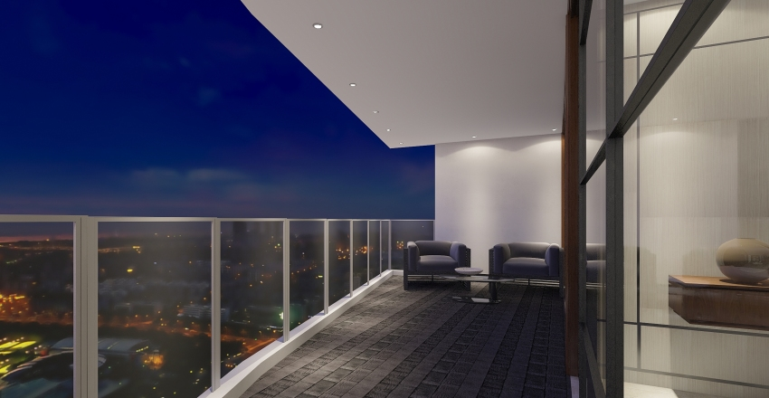 Penthouse Suite The Richardson  Interior Design Render