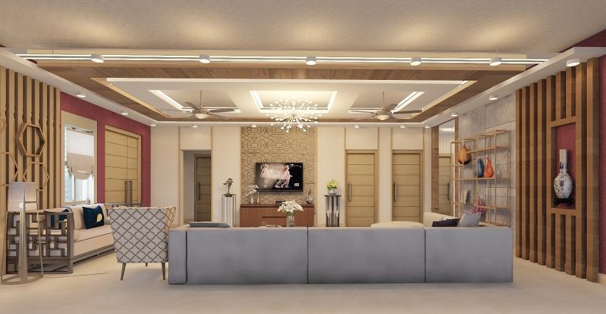 3. LIVING HALL - P101  Interior Design Render