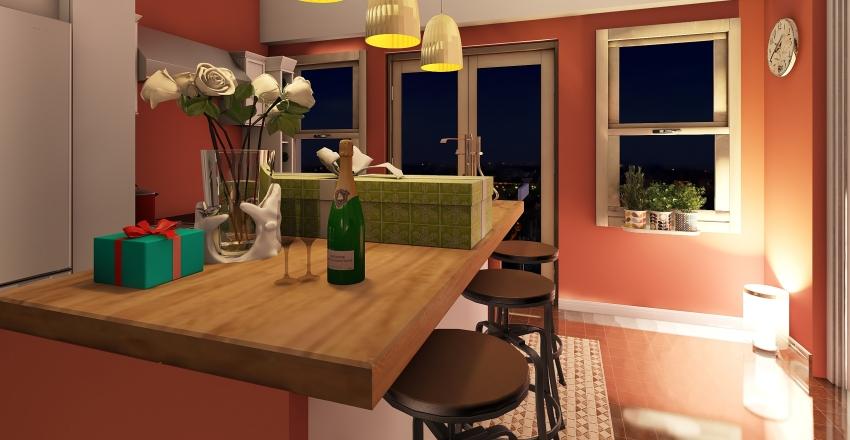 Shaker kitchen Interior Design Render