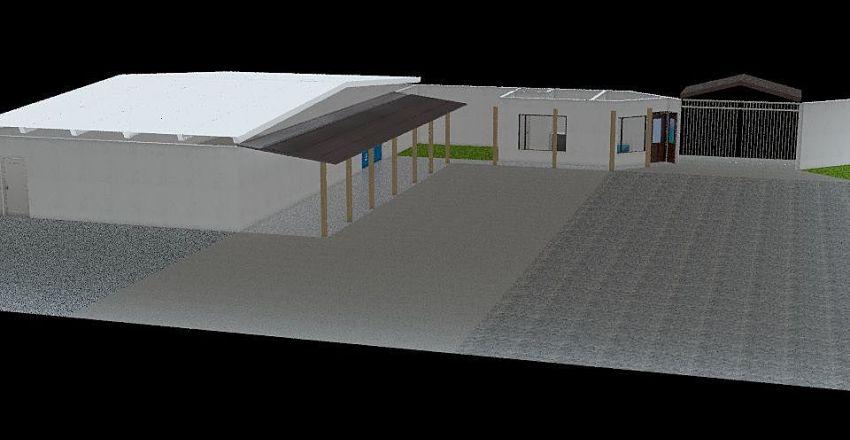 Almacén y acceso principal Interior Design Render