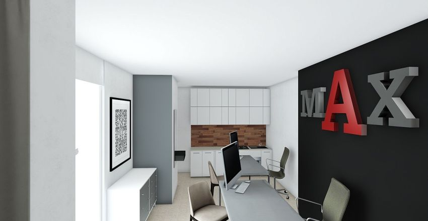 new office Interior Design Render
