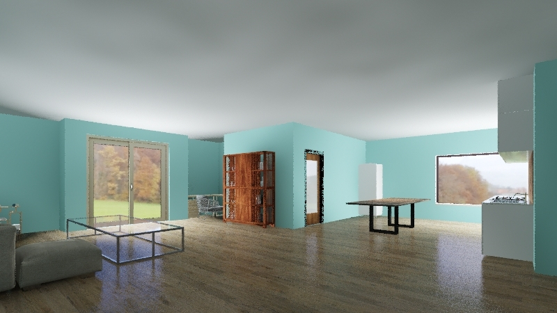 Minimalist Tosca Interior Design Render