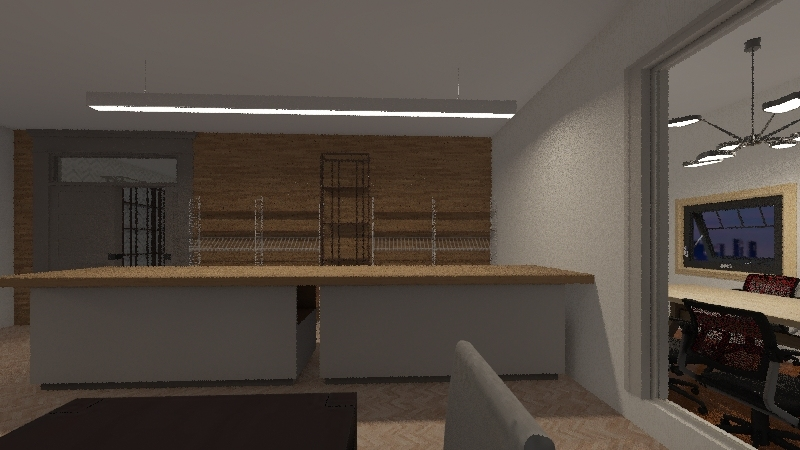 Big Bakery Interior Design Render