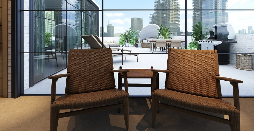 Los Angeles Apartment  Interior Design Render