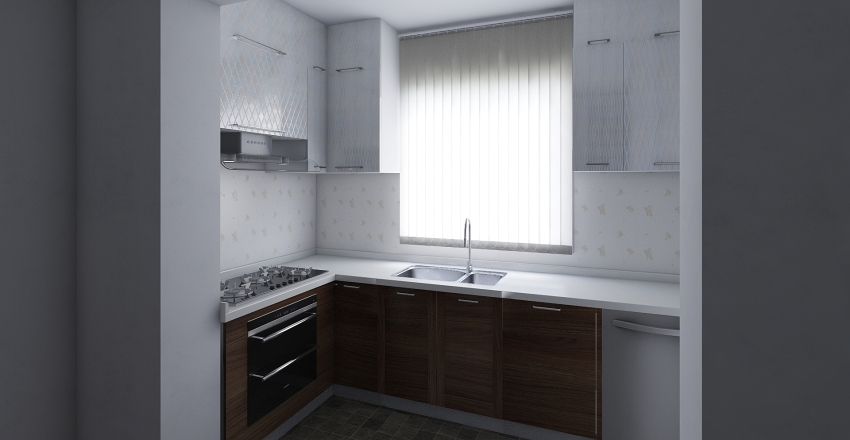 4 otaq ev 3 otaga  Interior Design Render