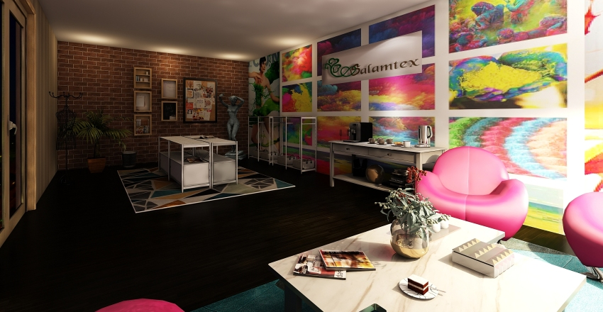 wall dicoration for factory  3 Interior Design Render