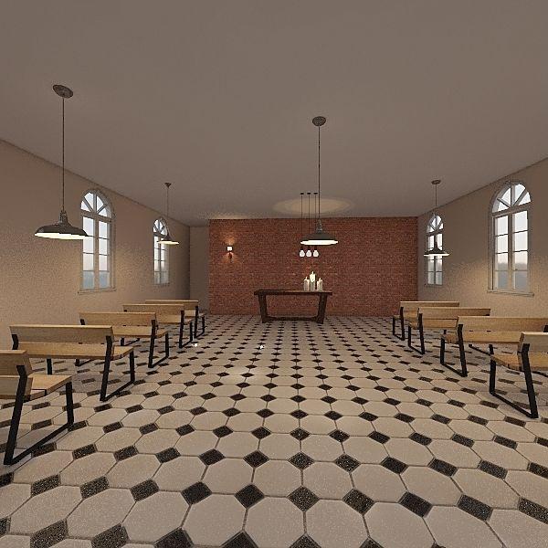 Capela Stª Terezinha 1 Interior Design Render